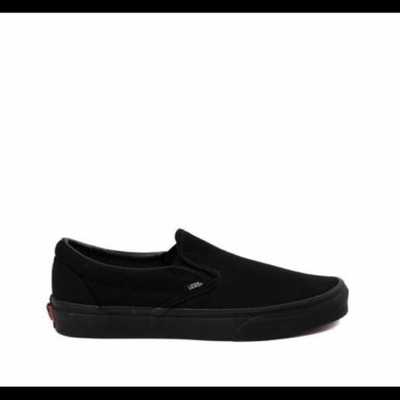 Vans Shoes | Plain Womens 85 Black Slip